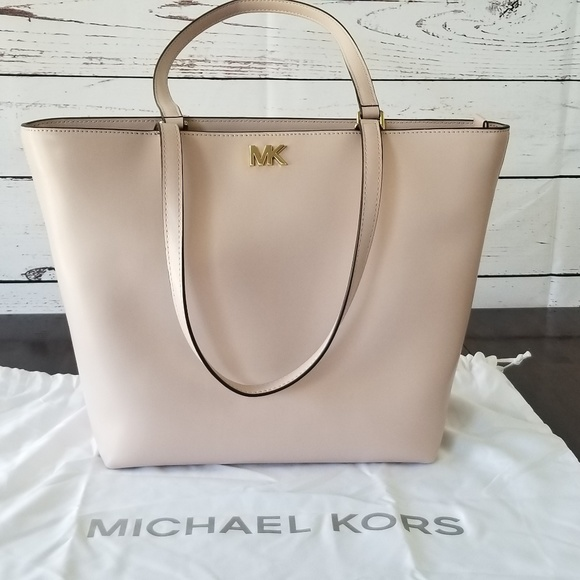 b541933c75db Michael Kors Mott Medium Leather Tote - soft pink